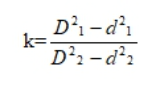 геометрическая степень конверсии шнека